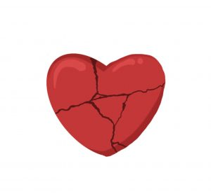 Image of a broken heart. This image represents how the shadow side of homicide survivors can be heart breaking. A trauma therapist can help in therapy for homicide survivors in Baltimore, MD. 21208